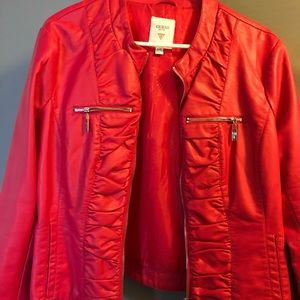 Red Guess Jacket Size XL Near New
